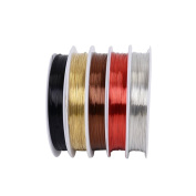 ULTNICE 5 Roll of Copper Wire Uncoated Tarnish Copper Wire for Beading Jewellery Making