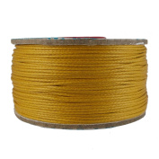 Wax Corduroy Jewellery Making Bracelet Necklace Knitting Crafting DIY Beading Golden Yellow Cord Craft String 1 Roll Thread 0.5 mm {540}