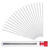 SelfTek 30 Pieces Beading Needles for Seed Beads with Needle Bottle