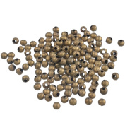 YC 500PCs Antique Bronze Smooth Ball Spacers Beads 4mm Dia.