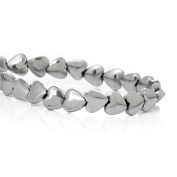 1 Strand Natural Dull Silver Tone Love Heart Hematite Beads for DIY Jewellery Making Findings 6x6mm