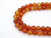 jennysun2010 Natural Carnelian Agate Gemstone 6mm Smooth Round Loose 60pcs Beads 1 Strand for Bracelet Necklace Earrings Jewellery Making Crafts Design Healing