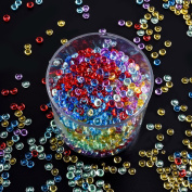 Antner 2000 Pieces Fishbowl Beads Colourful Rice Beads for Crunchy Homemade Slime DIY Crafts, Wedding and Party, 4 Pack, 220mls