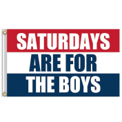 Aurorax Flag Banner Red White Blue , Saturdays Are For The Boys Flag 0.9m x 1.5m