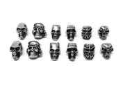 Honbay 12pcs Mini Skull Spacer Beads for DIY Jewellery Making Necklace Bracelets Earring Lanyards Accessories