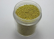 Gold 50Gram Mixed Colour Glass Micro Beads Microbeads No-hole 0.8-1.0mm + Storage Box