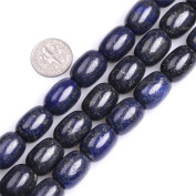 Column Natural Blue Lapis Lazuli Stone Buddha Beads for Jewellery Making 15""