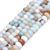 """Faceted Amazonite Stone Rondelle Spacer Beads for Jewellery Making 15"""""""