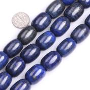 "Column Natural Blue Lapis Lazuli Stone Buddha Beads for Jewellery Making 15"""