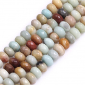 Faceted Amazonite Stone Rondelle Spacer Beads for Jewellery Making 15""