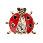 HUAJI Lady Shape Sparkling Rhinestone Brooch Pin Jewellery Gift