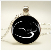 The sleeping cute cat Pendant Necklace ,For Women Dress Accessories Jewellery