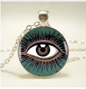 All See Eye The green eyes of a woman Pendant , Necklace ,For Women Dress Jewellery