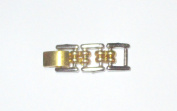 """Two Tone 1 1/4"""" 6mm Gold Tone Silver Tone Fold Over Extender"""
