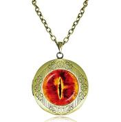 dragon eye locket necklace, charm memory locket necklace, cat eye necklace jewellery