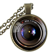 new vintage camera lens pendant Necklace,glass dome round necklace, Gift for Photographer Not an Actual Lens jewellery