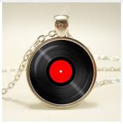Vinyl Record pendant. necklace. Vinyl records albums, Retro jewellery, birthday ,christmas gift