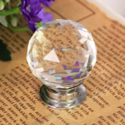 40mm Clear Crystal Glass Door Knob Cabinet Cupboard PHardware Come with Screw