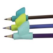 Webla 3PCS/Set Writing Posture Correction Device Children Kids Silicone Pencil Holder Pen Writing Aid Grip