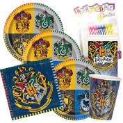 Harry Potter Party Plates Napkins Cups Serves 16 With Candles