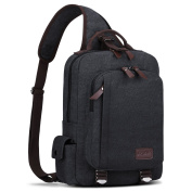 S-ZONE Men s 33cm Laptop Single Chest Shoulder Diagonal Gym Backpack Sack Satchel Outdoor Crossbody Pack