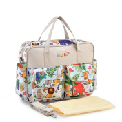 KAMAY'S® Multifunctional Waterproof Mummy Shoulder Bag Nappy Bag Chic Nappy Changing Bag Beige