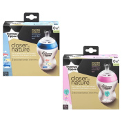 Tommee Tippee CTN Decorated Feeding Bottles (0m+) 2 x 260ml