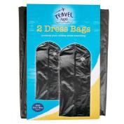 2x Hanging Suit/Dress Zipped Garment Care Bag Clothes Cover Protection Carrier- 57x133cm- Black