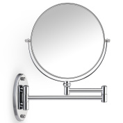 Cosprof Bathroom Mirror 10X/1X Magnification Double-sided 20cm Wall Mounted Vanity Magnifying Mirror Swivel, Extendable and Chrome Finished