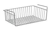 """WENKO """"Kanguro"""" Wardrobe Basket, Silver, 50 x 26 x 14 cm"""