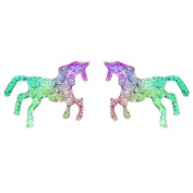 HENGSONG 1 Pair Colourful Unicorn Stud Earrings Alloy Lovely Cute Jewellery Gifts Charms