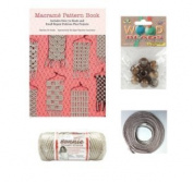 Macrame Wall Hanging Kit Instruction Booklet and Supplies. Macrame Kit for Beginners