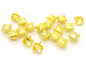 CRAFTMEmore 200pcs 5MM 7MM Pyramid Studs Spot Nailheads 4 Prongs Square DIY Spike for Shoes Cloth Punk Accessories