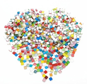 Fyess 400 Pieces Assorted Colours Mosaic Tiles Crystal Mosaic for Home Decoration Crafts Supply