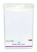 DCBS100 Dovecraft A4 Cardstock 10/Pkg-White Laid Finish 220gsm