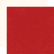 A Perfect Winter Double-Sided Cardstock 30cm x 30cm -Red/Cream Solid