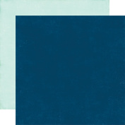 A Perfect Winter Double-Sided Cardstock 30cm x 30cm -Dark Blue/Ice Blue Solid