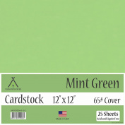 Mint Green Cardstock - 30cm x 30cm - 29kg Cover - 25 Sheets