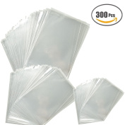 Sparklelife 300 Pieces 5.5x 8/ 4x 6/ 15cm x 24cm Clear Cellophane Bags Self-adhesive Sealing Treat Bags OPP Plastic Bag for Bakery, Candy, Soap, Cookie