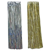 Christmas Eve Tinsel Icicles Faceted 48cm Gold