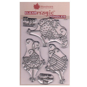 Woodware A6 Clear Cling Stamps - JGS550 Dancing Chickens