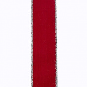Kurt Adler Red Double Wire Woven Christmas Ribbon
