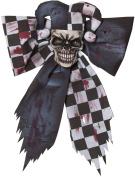 Large Red Black Jester Creepmas Bow Wall Door Christmas Halloween Decoration