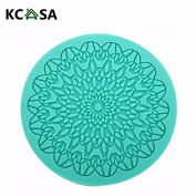 KCASA Carving Silicone Fondant Mould Cake Decorating Mould Gumpaste Sugarpaste Mould FDA LFGB