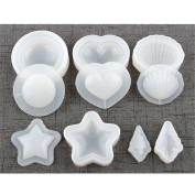5 Hollow Quicksand Moulds,Handmade Accessories Silicone Mould,Polymer Clay Silicone Mould, Crafting, Resin Epoxy, Making, DIY Decoration Tools,Semi-Transparent