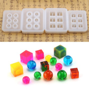 Round Beads,Square Beads Pendant Clay Silicone Mould,Crafting, Resin Epoxy, Jewellery Earrings Making,DIY Mobile Phone Decoration Tools,Semi-Transparent