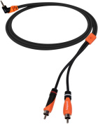 Bespeco SLYMPR180 1.8m 3.5 mm Stereo Right Angle to 2 RCA Male OFC Y Cable 1.8m