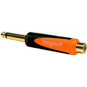 Bespeco SLAD305 0.6cm . Mono Male to RCA Female 24K Gold-Plated Adapter
