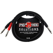 Pig Hog Solutions TRS(M) to Dual 0.6cm . Insert Cable 0.9m