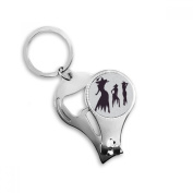 Three Sexy Witch Halloween Key Chain Ring Multi-function Nail Clippers Bottle Opener Gift
